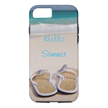 Beach Themed Hello Summer // Beach iPhone 7 Case