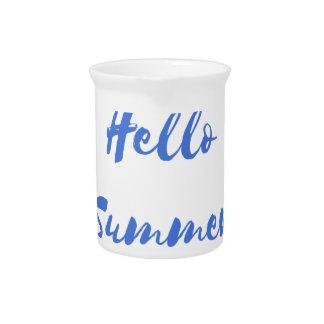 hello summer beverage pitcher