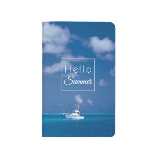 Hello Summer Blue Caribbean Sea Beach Typography Journal