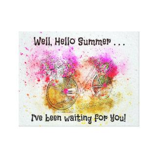 """Hello Summer"" Canvas Wall Art"