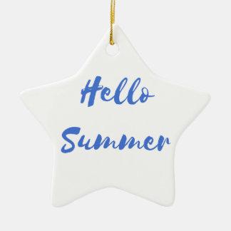 hello summer ceramic ornament