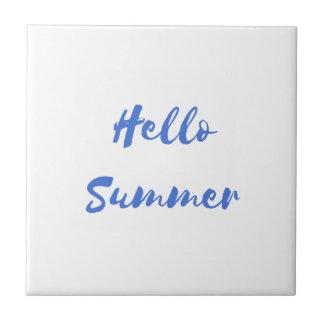 hello summer ceramic tile