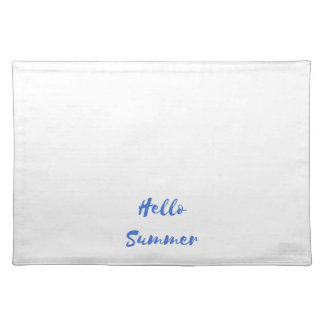 hello summer cloth placemat
