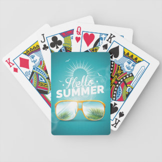 Hello Summer Design Bicycle Playing Cards