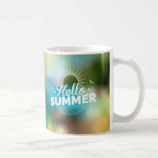 Hello Summer Design Classic White Coffee Mug