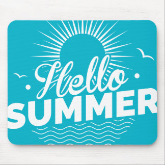 Hello Summer Design Mouse Pad