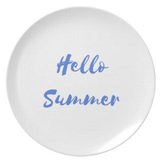 hello summer dinner plate