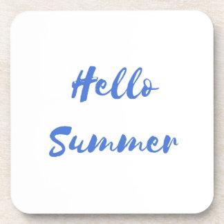 hello summer drink coaster