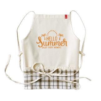 Hello Summer. Enjoy Every Moment. Zazzle HEART Apron