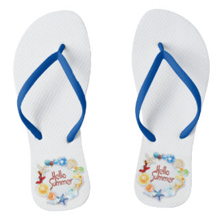 Hello Summer Flip Flops