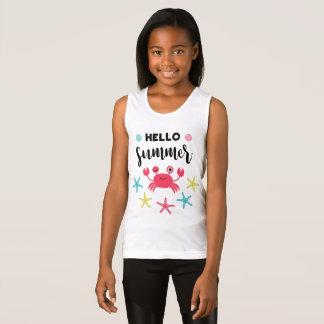 Hello Summer Happy Crab Tank Top