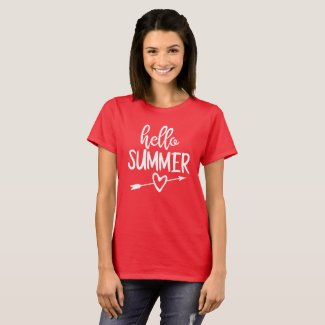 Hello Summer Heart and Arrow T-Shirt
