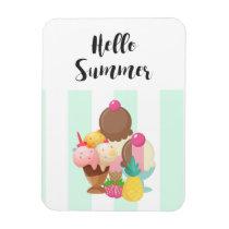 Hello Summer Ice Cream Sweet Treats Magnet