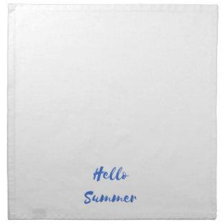 hello summer napkin