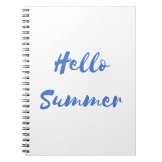 hello summer notebook