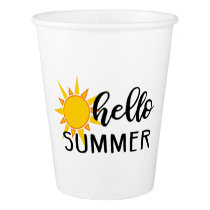 hello summer paper cup