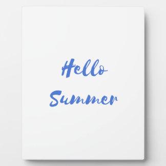 hello summer plaque