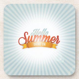 Hello Summer Shine On Beverage Coaster