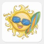 Hello Summer Square Sticker