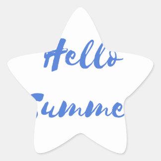hello summer star sticker