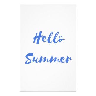 hello summer stationery
