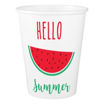 Hello Summer - Watermelon Paper Cup