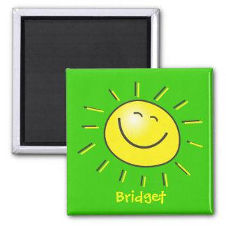 Hello sun 2 inch square magnet