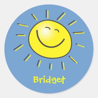 Hello sun classic round sticker
