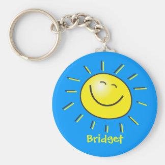 Hello sun key chain