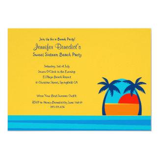 Hello Sunshine Beach Party  Custom Invitation