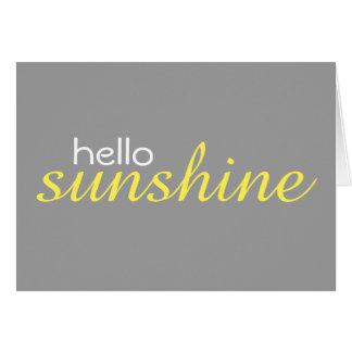 """Hello Sunshine"" (blank inside) Notecards Card"