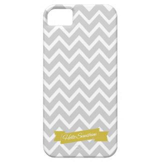Hello Sunshine Chevron Gray Iphone 5 case