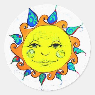 Hello Sunshine Classic Round Sticker
