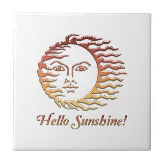 HELLO SUNSHINE Fun Sun Summer Ceramic Tile