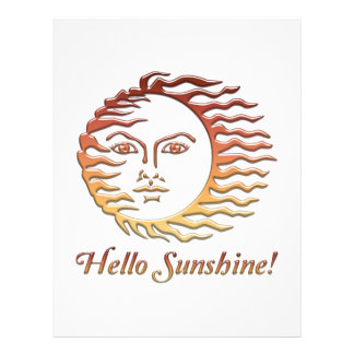 HELLO SUNSHINE Fun Sun Summer Letterhead