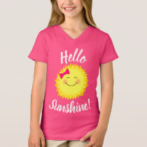 Hello Sunshine Girly Sun T-Shirt