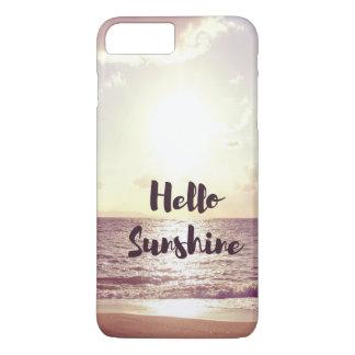 """""""Hello Sunshine"""" Photo Quote iPhone 8 Plus/7 Plus Case"""