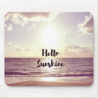 """Hello Sunshine"" Photo Quote Mouse Pad"
