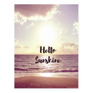 """""""Hello Sunshine"""" Photo Quote Postcard"""