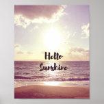 """Hello Sunshine"" Photo Quote Poster"