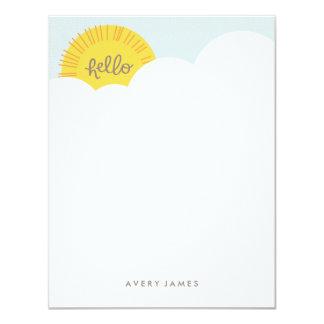Hello Sunshine Stationery - Charcoal 4.25x5.5 Paper Invitation Card
