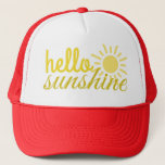 """Hello Sunshine Women&#39;s Trucker Summer Hat<br><div class=""""desc"""">Cutest way to protect your head/face over the summer!</div>"""