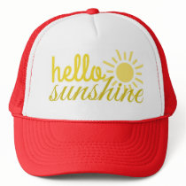 Hello Sunshine Women's Trucker Summer Hat