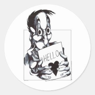 Hello Sweetheart Classic Round Sticker