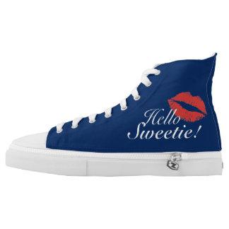 Hello Sweetie! High-Top Sneakers