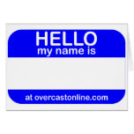 Hello Tag Greeting Card