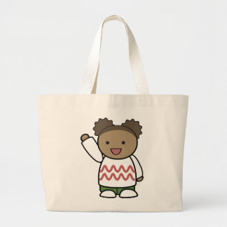 HELLO TEDDY BEAR LARGE TOTE BAG