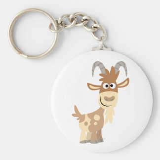 Hello There! Cute Cartoon Goat Keychain