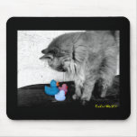 """""""Hello There Kitty"""" Rubber Duck Mousepad"""