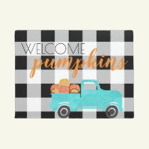 Hello There Pumpkin Fall Decoration Doormat